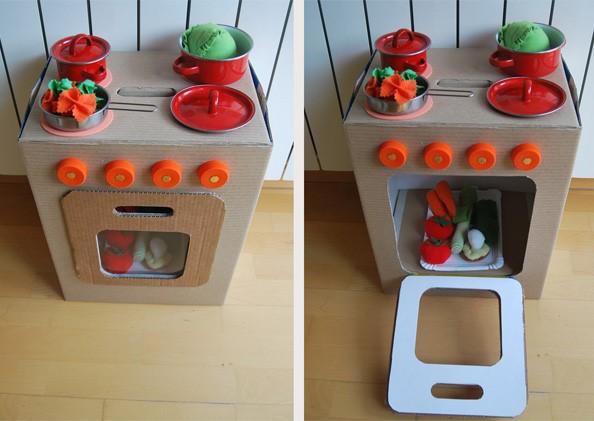 juguetes de cartn reciclado para nios